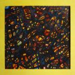 Mozaiek VIII - inkt en pastel 53 x 53 cm
