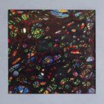 Mozaïek XI - inkt en pastel 60 x 60 cm